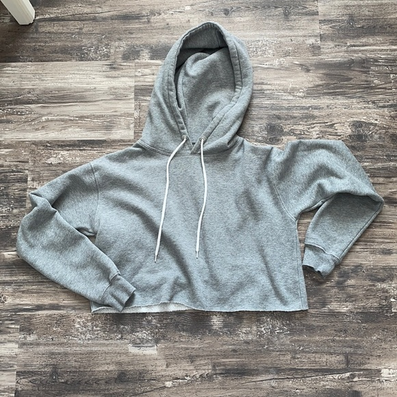 Women's Cropped Grey Hoodie - Wild Fable